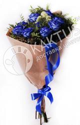 Цветы синей розы в букете