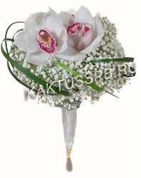 Букет невесты в классическом белом стиле №6